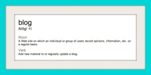 Blog-definition-framed